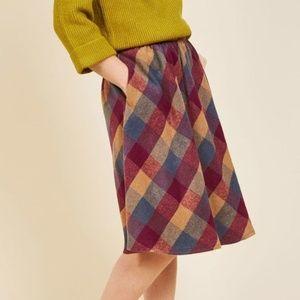 Modcloth Plaid Skirt